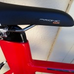Fizik Arione Tri 2 K:ium Saddle on Bontrager Race Lite TTX seatpost.